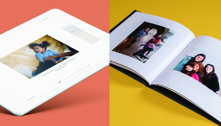 Digital and photobooks created from Confetti